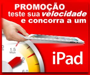 Teste sua velocidade e concorra a um iPad.